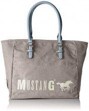 Mustang Wayne Taylor Shopper Xlhz - Borse Tote Donna, Grigio (Light Grey), 17x32x48 cm (B x H T)