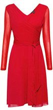 ESPRIT Collection 108eo1e020, Vestito Donna, Rosso (Dark Red 610), Medium