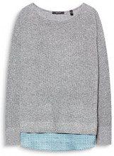 ESPRIT Collection 107eo1i016, Felpa Donna, Grigio (Grey 5 034), Medium