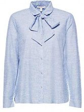ESPRIT 108ee1f010, Camicia Donna, Blu (Light Blue 440), 40 (Taglia Produttore: 34)