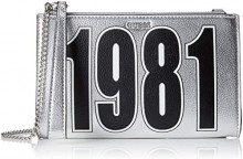 Guess Felix, Borsa a Tracolla Donna, Argento (Silver/SIL), 23.5x14x3 cm (W x H x L)