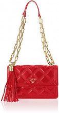 Guess Sandy, Borsa a Tracolla Donna, Rosso Red, 23x16x6.5 cm (W x H x L)