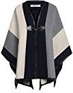 Angvns donna scialle invernale casual poncho mantello tuta sportiva del cappotto