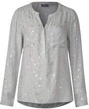 Street One 341185, Camicia Donna, (Moon Grey Melange 21423), 48 (Taglia Produttore: 42)