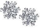 Bling Jewelry Argento 3 foglia di trifoglio fiore Agganciare Rodiata orecchini in ottone