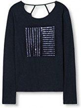 edc by Esprit 116CC1K045, T-Shirt Donna, Blu (Navy), 40 (Taglia Produttore: Large)