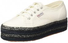 Superga 2790-COTCOLOROPEW, Sneaker Donna, White, 36 EU