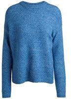 PIECES Pcfania LS Knit, Felpa Donna, Blu (Victoria Blue Detail:Melange), 46 (Taglia Produttore: Large)