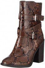 New Look Wide Foot Snake, Scarpe col Tacco Punta Chiusa Donna, Marrone (Brown Pattern 29), 37 EU