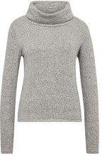 Tom Tailor Casual 2in1 Sweatshirt mit Modischen Turtle Neck, Felpa Donna, Grigio (Silver Grey Melange 11282), XX-Large
