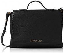 Calvin Klein Jeans Frame Top Handle Satchel - Borsette da polso Donna, Nero (Black), 11x24x30 cm (B x H T)