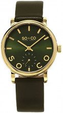 So & Co New York Madison 5093L.4 - Orologio unisex al quarzo con quadrante analogico verde e cinturino in pelle verde