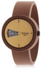 Orologio componibile O' Clock - gomma marrone - Ø: 32 mm