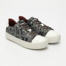 Sneakers Gipsy Funky - stampato - bianco e grigio