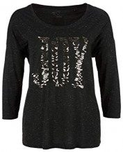 s.Oliver 14.811.39.8272, T-Shirt Donna, Nero (Black Placed Print 99d0), 46 (Taglia Produttore: 40)