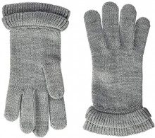 PIECES Pcfina Gloves, Guanti Donna, Grigio Medium Grey Melange, Taglia Unica