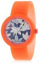 Orologio componibile O' Clock - gomma arancione - Ø: 32 mm