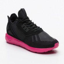 Sneakers Tubular Runner - nero e fucsia