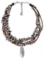 Collana Soñadorar - placcatura in argento di 15 micron - cristalli - color argento