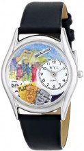 Whimsical Watches S-0420003 - Orologio da polso, unisex, pelle, colore: multicolore