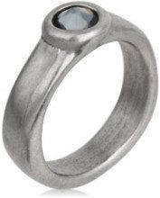 Anello Chato - cristalli di Swarovski® - grigio - larghezza anello: 0.5 cm