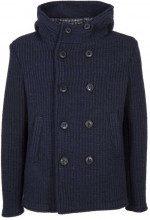 Cappotto in misto lana a coste 20NAVYBLUE