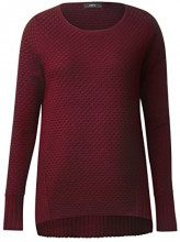 Cecil Structure Pullover, Felpa Donna, Rot (Velvet Red 20986), X-Small