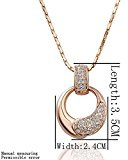 DUMAN placcato oro 18kt oro rosso, con zirconi e cristalli Swarovski strass & Jewelry collana e orecchini set