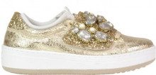 Sneaker in pelle crackle laminata