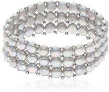 Bracciale multifili - perle d'acqua dolce - L: 14-18 cm