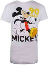 Disney 90 Years of Mickey, T-Shirt Donna, Bianco White, 48 (Taglia Produttore: X-Large)