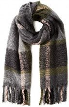 PIECES Pcfran Long Scarf Dc, Sciarpa Donna, Multicolore (Winter Moss), Taglia Unica