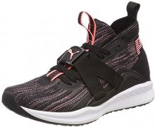 Puma Ignite Evoknit 2 Wn's, Scape per Sport Outdoor Donna, Nero Black-Asphalt-Soft Fluo Peach, 39 EU