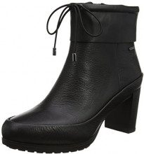 Clarks Londonrain GTX, Stivali Donna, Nero (Black Leather), 37.5 EU