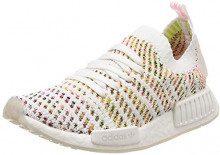 Adidas NMD_R1 Stlt PK W, Scarpe da Ginnastica Donna, Bianco (Ftwr White/Semi Yellow/Solar Pink), 38 EU