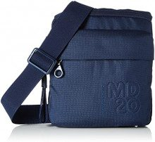 Mandarina Duck Md20, Borsa a Tracolla Donna, Blu (Dress Blue), 4x23x21.5 Centimeters (B x H x T)