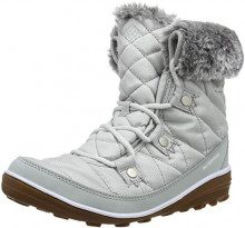 Columbia Scarponcini da Escursionismo da Donna, Waterproof, Heavenly Shortly Camo Omni-Heat, Grigio (Grey Ice, Bianco), Taglia: 39 1/2