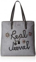 Tous Shopping super grande Real Jewel - Borse a spalla Donna, Grigio (Gris)