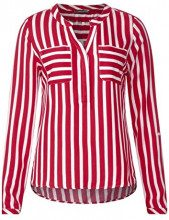 Street One 341149 Mona, Blusa Donna, Mehrfarbig (Pure Red 21496), 40