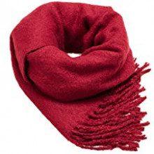 ESPRIT Accessoires 108ea1q006, Sciarpa Donna, Rosso (Plum Red 605), Unica (Taglia Produttore: 1SIZE)