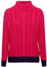 edc by Esprit 108cc1i016, Felpa Donna, Rosa (Pink Fuchsia 660), Large