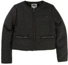 Karl Lagerfeld - giacca - tessuto trapuntato - nero