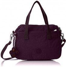 Kipling Emoli, Borsa a mano Donna, Viola (Plum Purple), 23.5x18x12 cm (W x H x L)