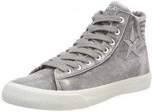 REPLAY Edna, Sneaker a Collo Alto Donna, Grigio (Grey), 36 EU