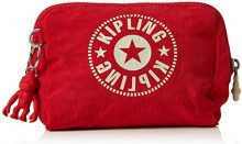 Kipling Damen Inami M Borsa per trucchi Donna, Rosso (Lively Red), 8.5x16x12 cm