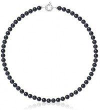Collana - argento 925/1000 rodiato 2 g e perle di acqua dolce - L: 42 cm