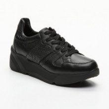 Sneakers - pelle - nero - suola: 5 cm