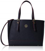 Tommy Hilfiger Honey Med Tote - Borse Donna, Blu (Tommy Navy/Red Paint), 13.5x27x42 cm (B x H T)