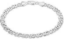 Tuscany Silver Bracciale Unisex in Argento Sterling 925, 19 cm