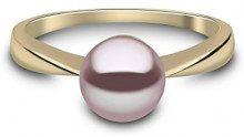 Kimura Pearls-Collana in oro giallo 9 kt, con perle d'acqua dolce con anello, misura L, RN 0057-201NL